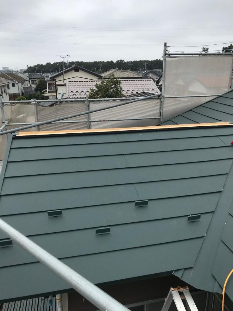 屋根材設置1