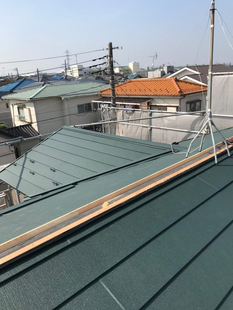 屋根材設置3